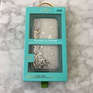 Kate Spade Glitter Star iPhone X Case *NEW*